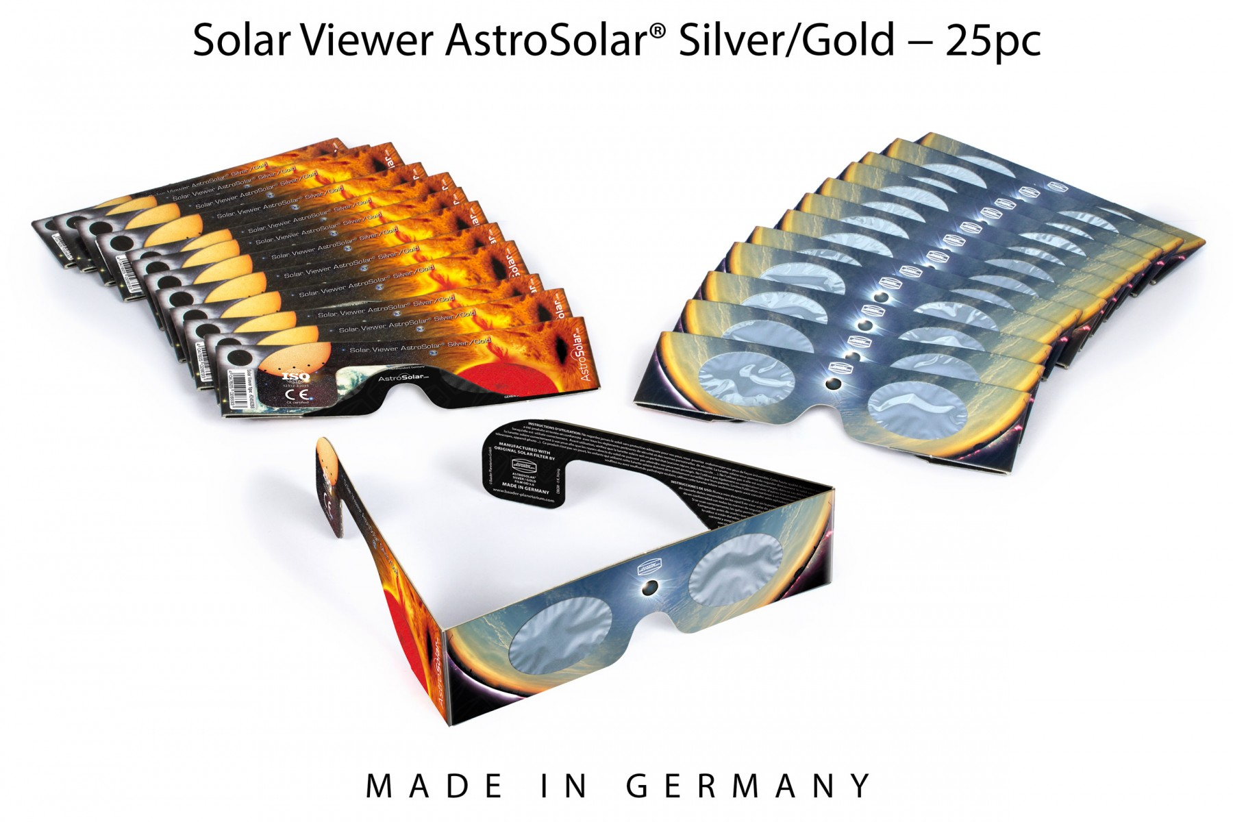 optik fachhandel in stuttgart baader solar viewer silver gold 25 st online kaufen bei. Black Bedroom Furniture Sets. Home Design Ideas